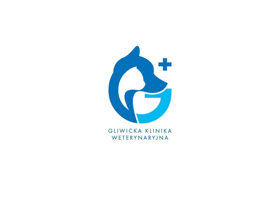 Zaprojektowane przed Diamond Studio logo dla Gliwickiej Kliniki Weterynaryjnej