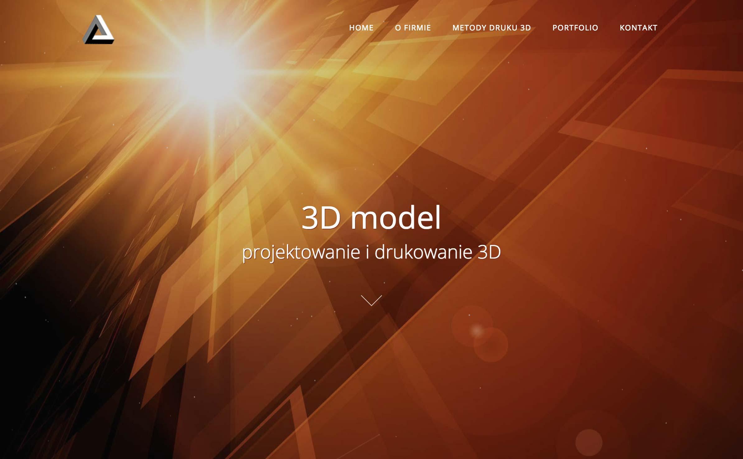 Projektowanie stron internetowych, Projektowanie stron responsywnych, Nowoczesne strony internetowe, Wordpress - Projekt dla firmy 3D Model